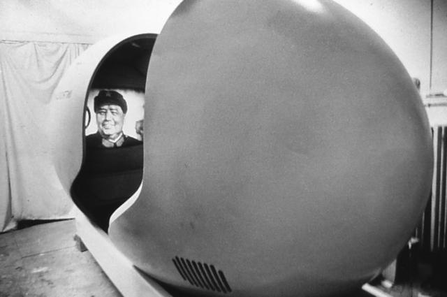 L'intérieur de l'Introscaphe - Projection 1970